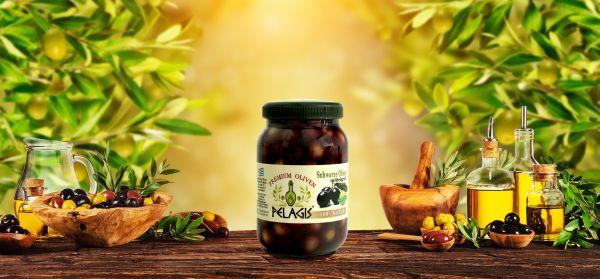 Oliven Makris Mittelgross 12x 700gr. Netto